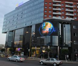 阿尔巴尼亚P16户外弯曲全彩LED龙8国际娱乐网页版